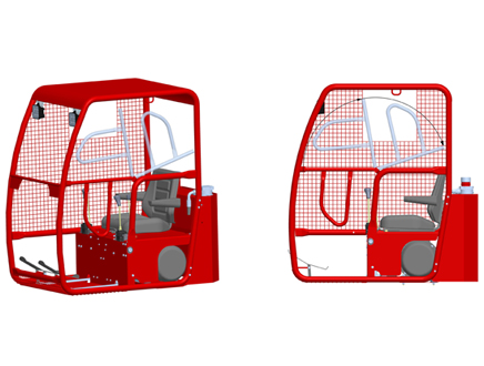 Standard-compliant access & sound insulation in the cab roof